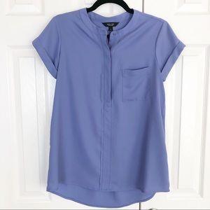 Simply Vera quarter button popover blouse